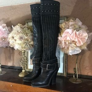 AUTHENTIC BLACK  BARBARA BUI TALL BOOTS (36.5/6)